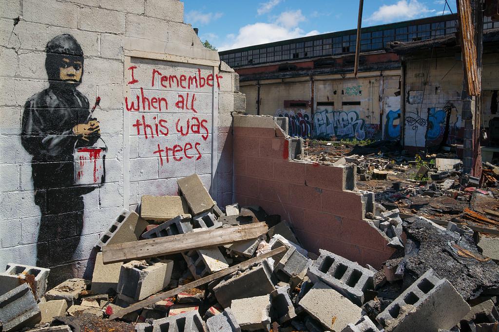 """""""Mi ricordo quando era tutta campagna"""" di Banksy"""