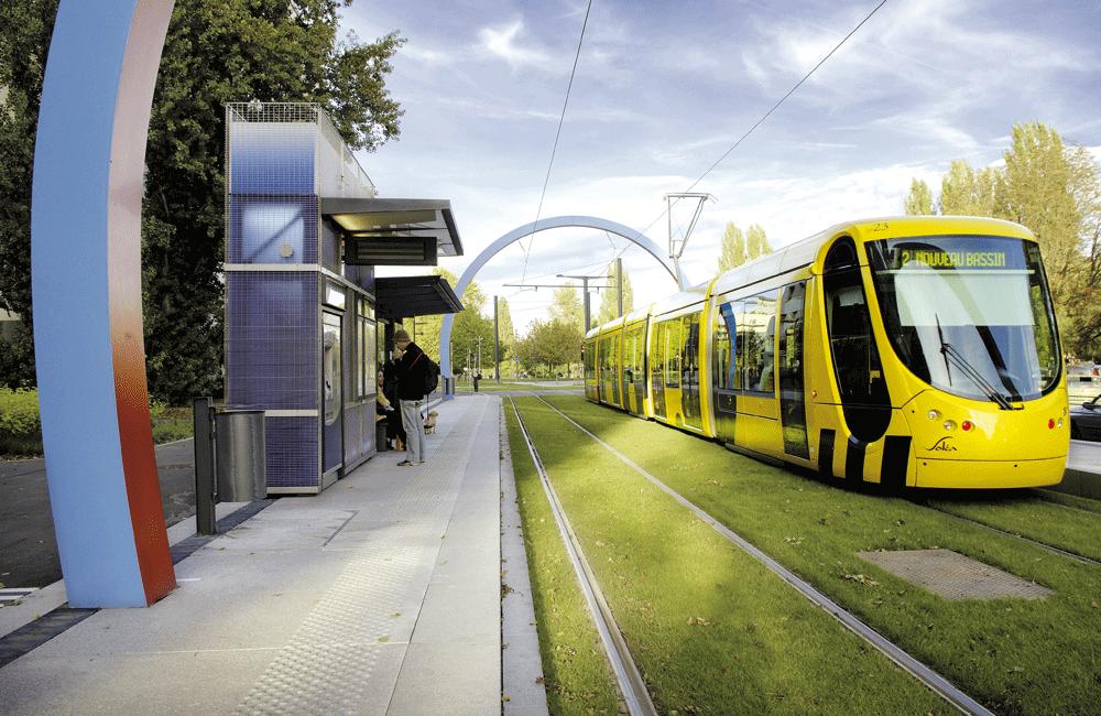 Un mezzo di trasporto Alstom