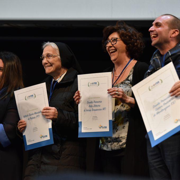 Premiazione delle scuole vincitrici dell'edizione del 2016