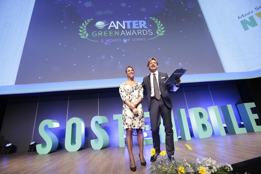 Sandro Donato Grosso con Tania Cagnotto agli Anter Green Awards 2017