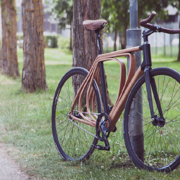 Timber Wooden Bicycle