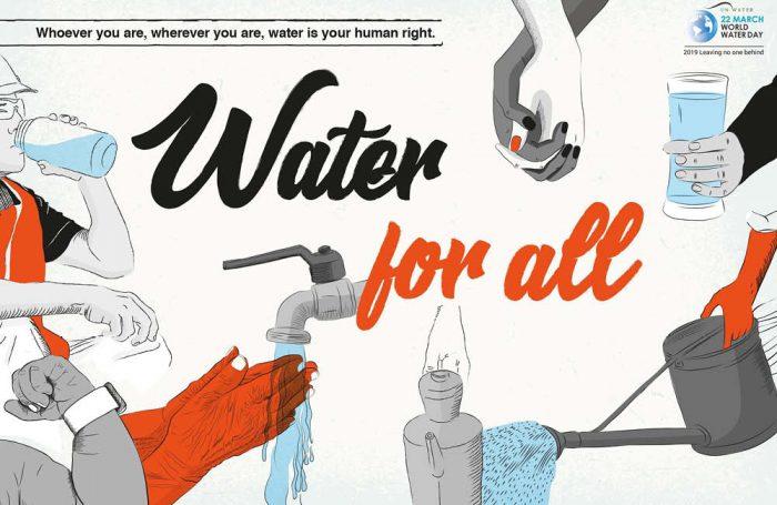 Water for all - immagine ufficiale Giornata mondiale dell'acqua 2019