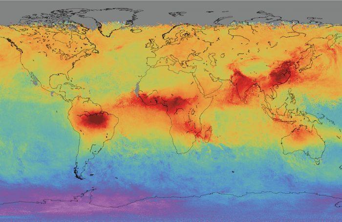 Il monossido di carbonio nel mondo misurato da Sentinel-5P