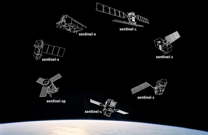 I diversi satelliti sentinella del programma Copernicus