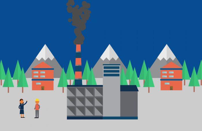 L'impatto dell'attività di una fabbrica sull'ambiente