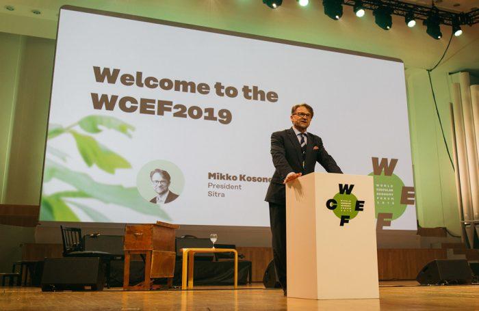 La cerimonia d'apertura del Forum Mondiale dell'Economia Circolare 2019