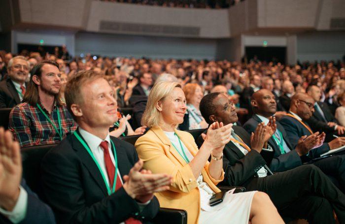 Alcuni dei partecipanti al Forum Mondiale dell'Economia Circolare 2019