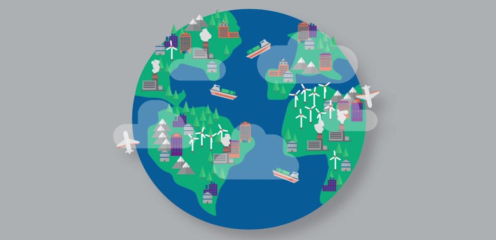 Il disegno di un pianeta Terra sostenibile